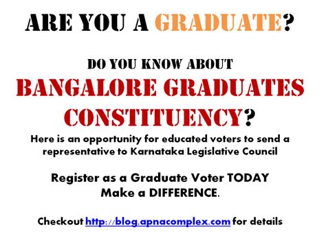 Apartment Owners Association Election Process Bangalore Graduates Constituency Election Register To