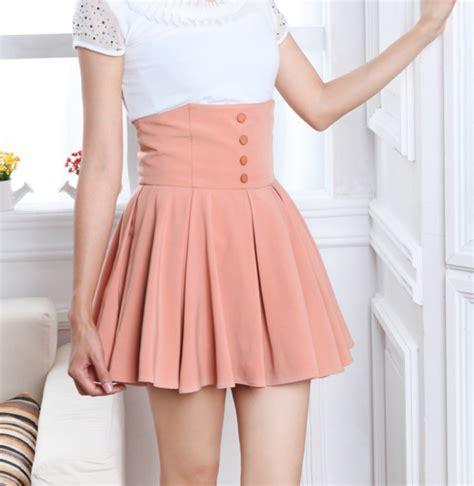 chiffon high waist pleated mini skirt on luulla