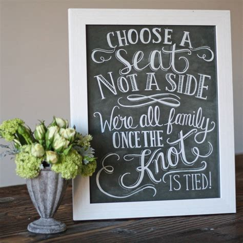 choose a seat not a side wedding sign choose a seat not a side wedding ceremony print by the