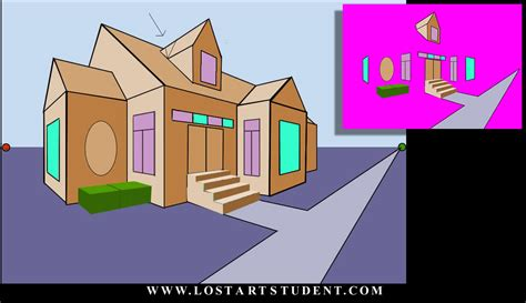 how to to and outside how to draw the outside of a building in 2 point perspective