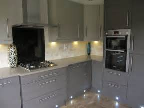 Appealing lighting under grey kitchen cabinets for modern kitchen with