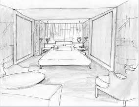 Sketchroom Modrian Hotel Room Interior Sketch Trendland