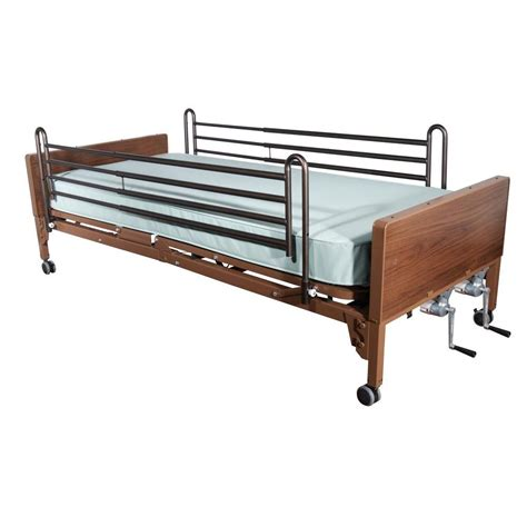 therapeutic bed drive multi height manual hospital bed with full rails and therapeutic support