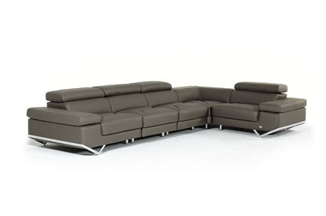 dark gray sectional couches divani casa kerria modern dark grey or light grey eco