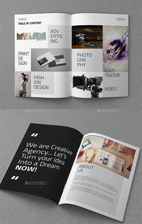 awesome portfolio brochure templates bashooka
