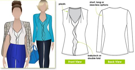 pattern review style arc stylearc patsy top sewing pattern