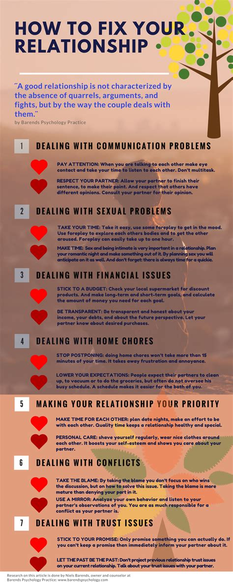 how to fix a relationship in seven ways