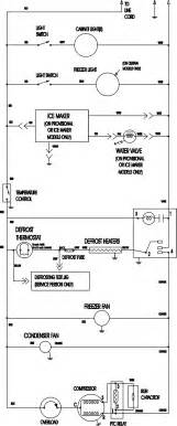 wiring information diagram parts list for model ctf2126arw magic chef parts refrigerator parts