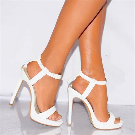 white strappy high heel sandals koi couture white strappy barely there sandals high heels