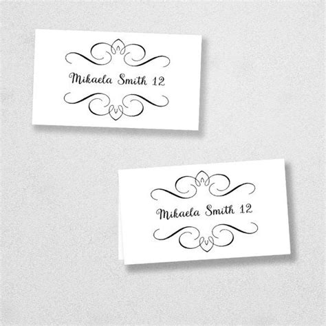 Avery Flat Place Card Template by 25 Best Printable Place Cards Ideas On