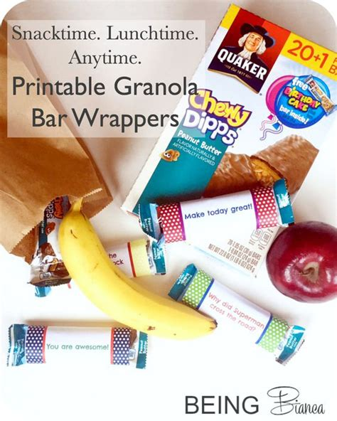 printable granola labels jokes granola and bar wrappers on pinterest
