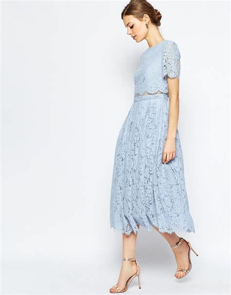 Dress Of The Day B With G Baby Doll Dress by Image 1 Of Asos Lace Crop Top Midi Prom Dress Bridesmaid