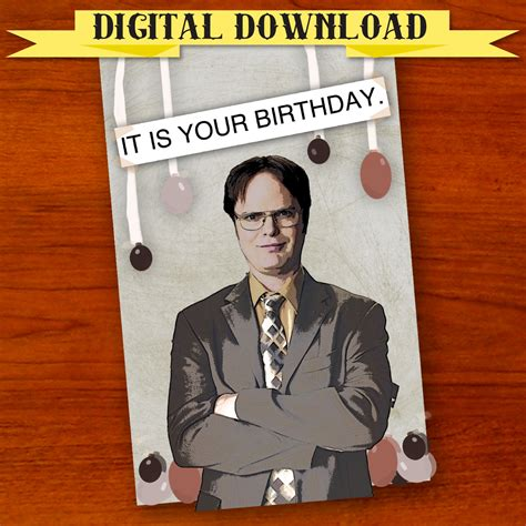 The Office Birthday Card dwight schrute the office birthday card digital