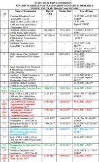 Calendar 2018 Time And Date Ssc Calendar 2018 Pdf Exams Notification Dates