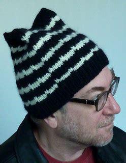 black and white knit hat pattern ravelry knitted black and white hat for men pattern by