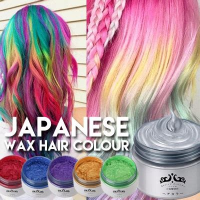 color wax qoo10 colour hair wax hair care