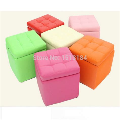 Colorful Ottomans New Arrival Cheap Colorful Leather Stools Leather Ottoman Storage Stool In Stools Ottomans