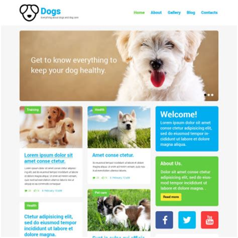 themes bootstrap pets wordpress dog themes