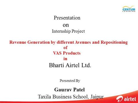 Gaurav Patel Internship Presentation Authorstream Internship Presentation Template