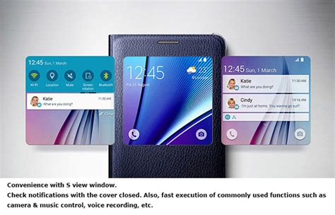 Flip Cover S View Model Ori Samsung Galaxy Note 4 genuine samsung galaxy note 5 slim s view flip cover phone skin original ebay