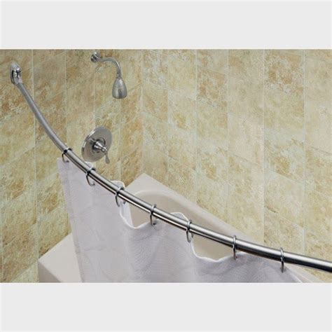 sturdy shower curtain rod curved shower curtain rods bring luxury to small bathrooms