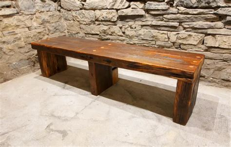wood slab bench with back the empire timber and slab reclaimed wood modern