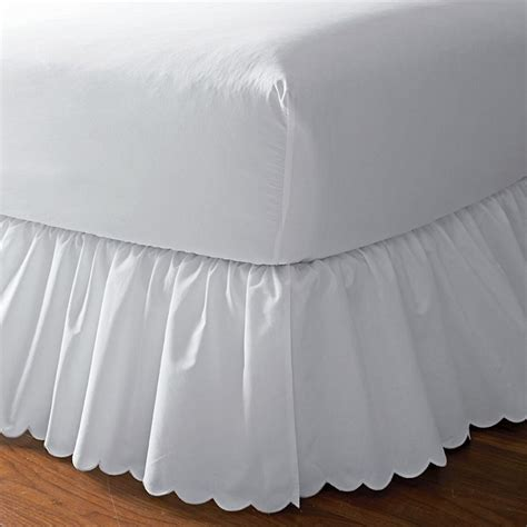 white bed skirts detachable bed skirt the company store