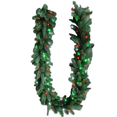 christmas string garland home accents 9 ft royal grand spruce artificial garland with green white