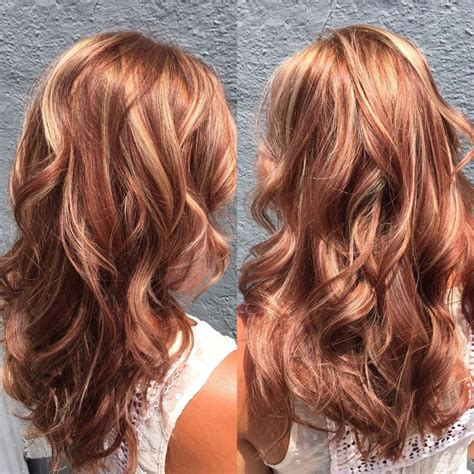 blonde highlights on brunette hair over 60 60 brilliant brown hair with red highlights