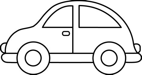 simple car template car coloring page free clip