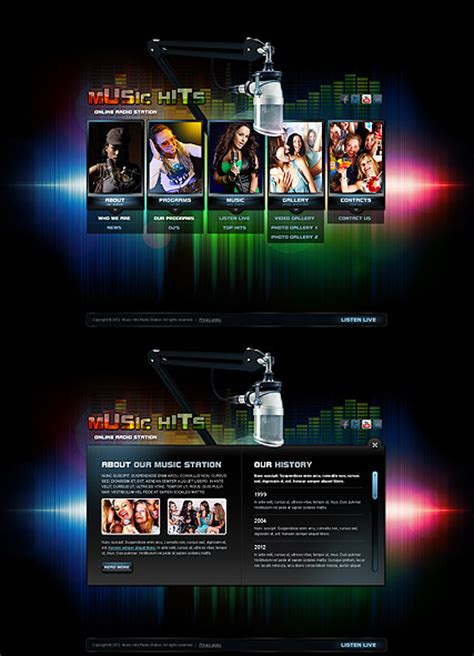 Online Radio Html5 Template Id 300111377 From Bootstrap Template Com Gaming Website Template Html5 Free