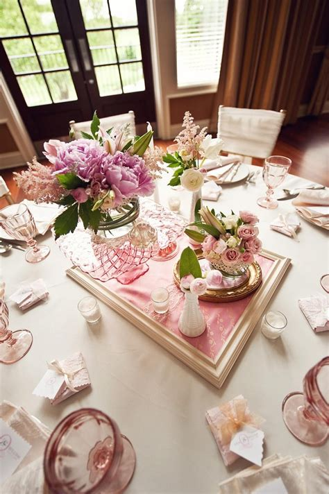 Vintage Gold And Pink Wedding Centerpiece Ideas Vintage Table Centerpieces