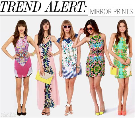 Trend Alert by Trend Alert Mirror Prints Lulus Fashion