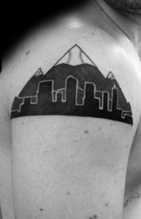 denver skyline tattoo 20 denver skyline designs for colorado ink ideas