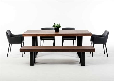 Modern Bench Dining Table Modern Wenge Walnut Dining Table Vg508 Modern Dining