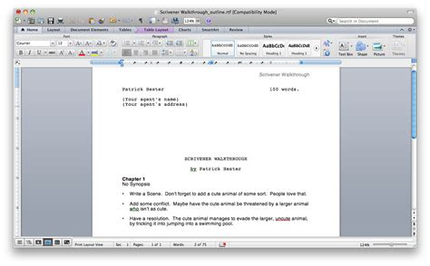 scrivener quick tip compile for synopsis all things