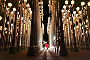 lights in la lacma engagement photography los angeles wedding