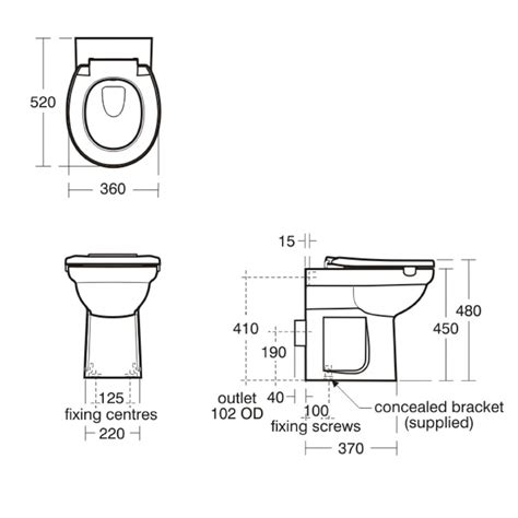 armitage shanks contour 21 back to wall raised height wc