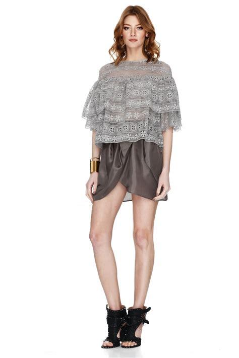 Blouse Lace Grey grey lace blouse pnk casual