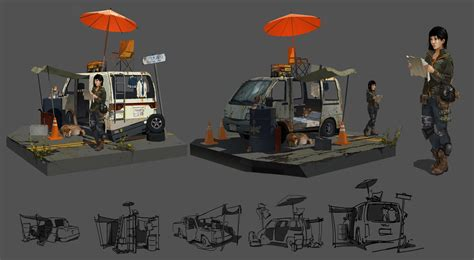 house boat props prop turn around post apocalyptic japan by gloriousryan