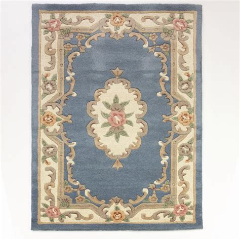 blue aubusson rug lotus premium blue aubusson wool rug in various sizes shapes and runner ebay