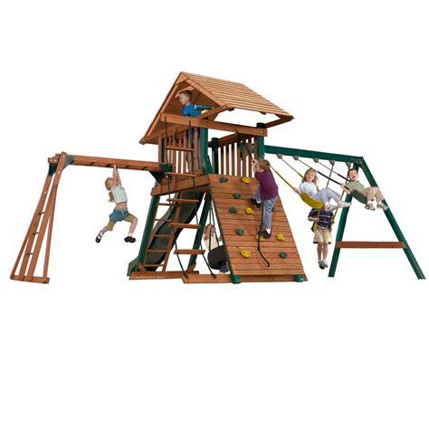 kangaroo swing kangaroo kavern wooden playset with monkey bars tire swing
