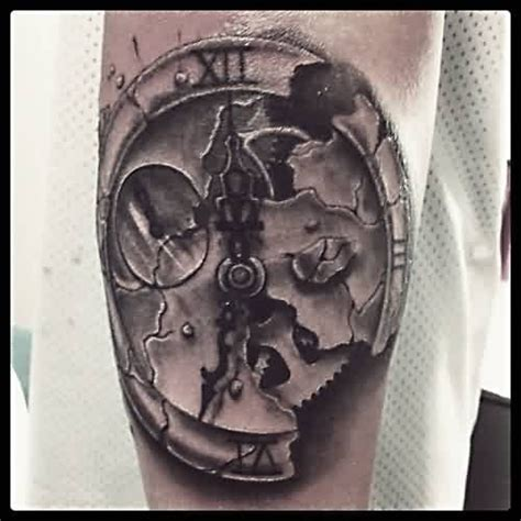 broken clock tattoo 34 broken clock tattoos