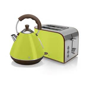 Toaster Set Swan Retro Kettle And 2 Slice Toaster Set Lime Kettle