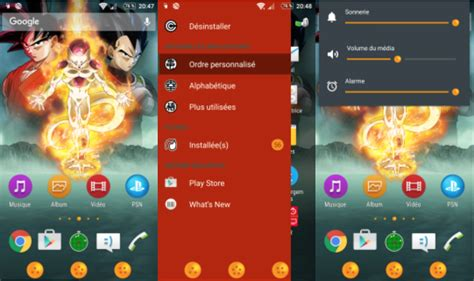 theme creator xperia z sony xperia themes inspired from dragon ball z