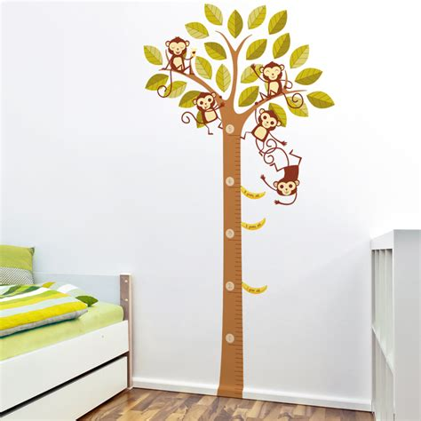 banana loving monkeys in a tree growth chart printed