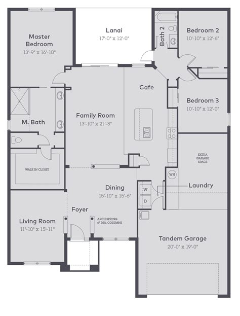 100 inland homes floor plans residence 1 floor plan