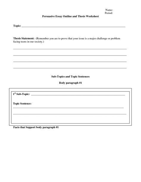 Persuasive Writing Worksheets Pdf