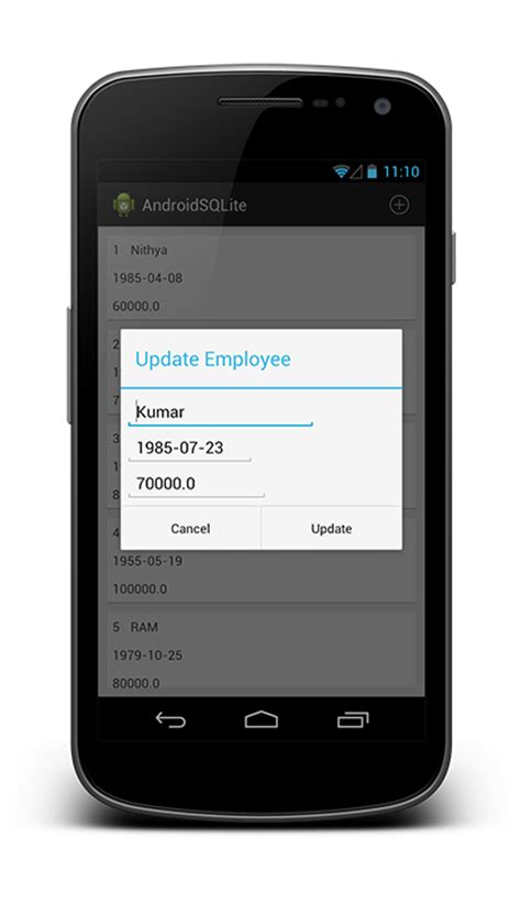 sqlite android android sqlite exle android open tutorials