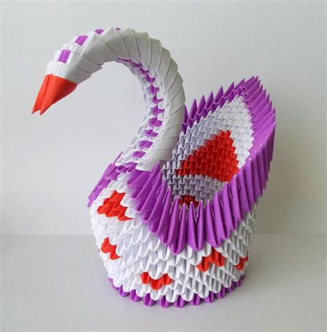 How To Make An Origami Swan 3d - 3d origami swan by designermetin on deviantart